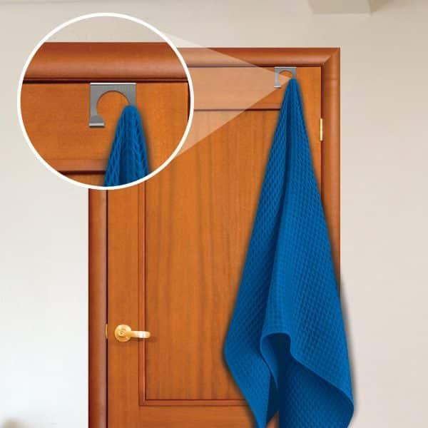 Obešalnik za vrata iz nerjavečega jekla, 3 vrste