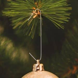Obešalniki za božične okraske - srebrni - 150 kosov / paket