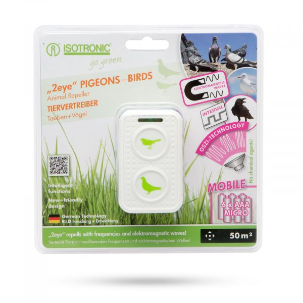 Odganjalec golobov z LED indikatorjem - 6 x AAA