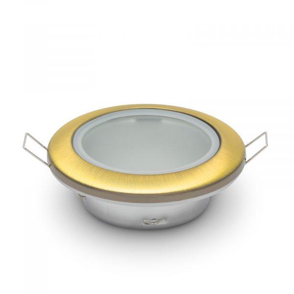 """Okovje za pritrditev žarnice GU10/MR16 """"Rome"""", vodotesno - polirano zlato"""