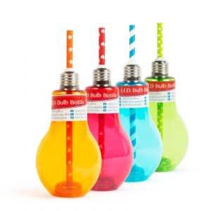 Osvetljen kozarec z LED za zabave - žarnica, različne barve - 400 ml