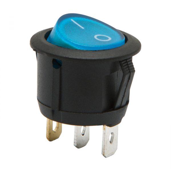 Osvetljeno preklopno stikalo - 1 vezje - 6 A - 250 V - ON - OFF - modra luč