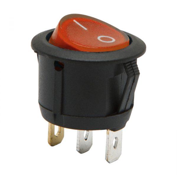 Osvetljeno preklopno stikalo - 1 vezje - 6 A - 250 V - ON - OFF - rdeča luč