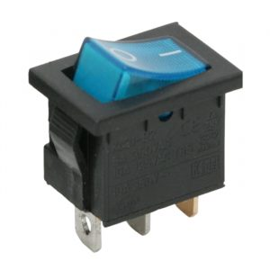 Osvetljeno preklopno stikalo - 1 vezje - 6A - 250V - OFF - ON - modra luč