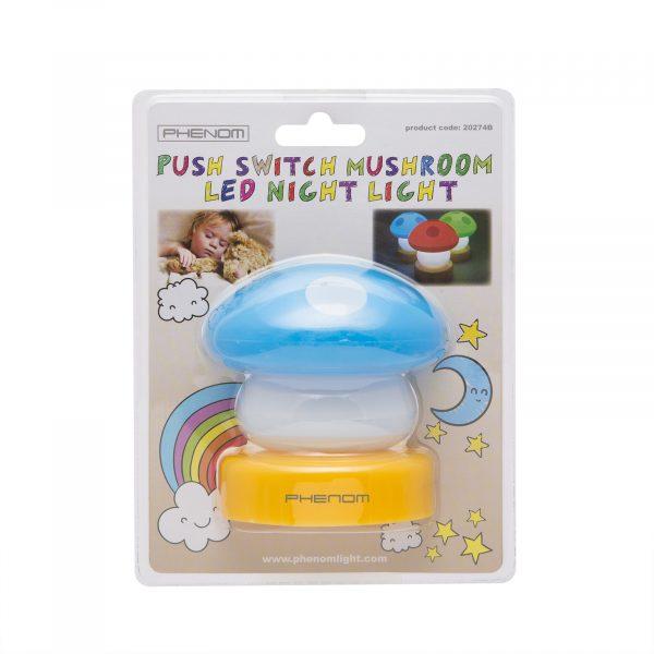 Otroška baterijska svetilka v obliki gobe modra
