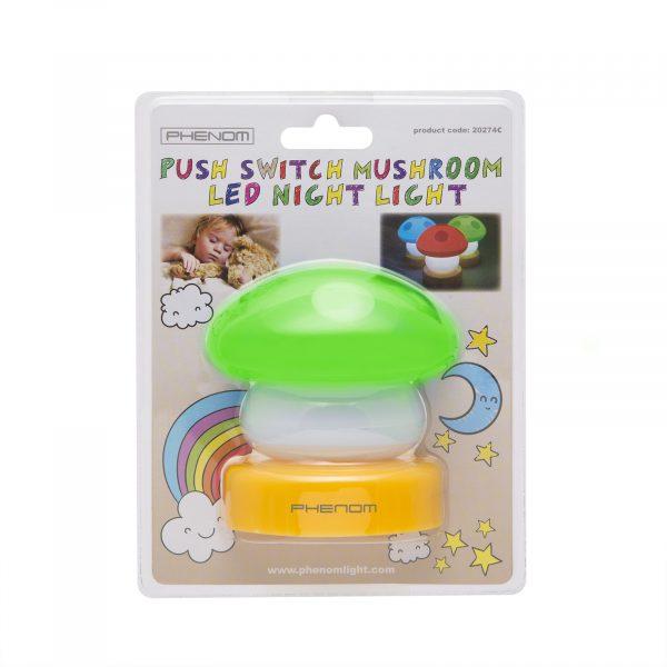 Otroška baterijska svetilka v obliki gobe zelena