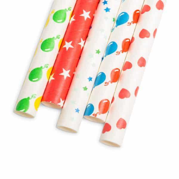 Papirnata slamica - party - 197 x 10 mm - 80 kosov / paket
