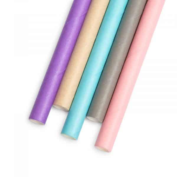Papirnata slamica - pastel - 197 x 6 mm - 5 vrst - 150 kosov / paket