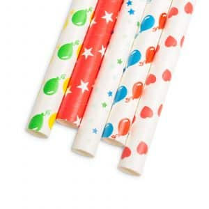 Papirnate EKO slamice - zabavni motivi - 195 mm - 25 kosov / paket