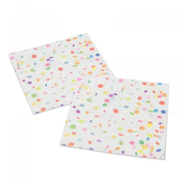 Party papirnati prtički (pikčasti), velikosti 33 x 33 cm, 20 kosov