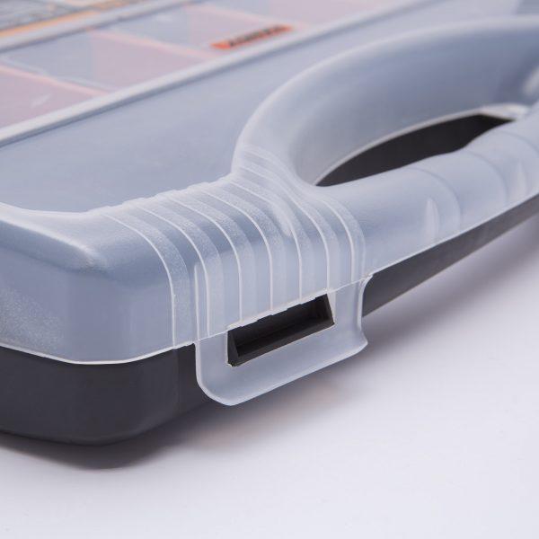 Plastični kovček s predalčki - 380 x 310 x 60 mm