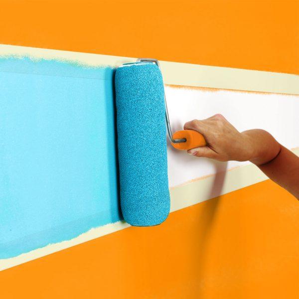 Pleskarski lepilni trak z lepilom na vodni osnovi - 50 m x 36 mm - bel