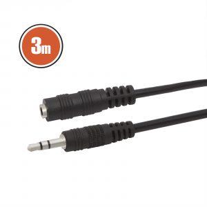 Podaljšek za slušalke ali zvočnike 3,5mm 3m