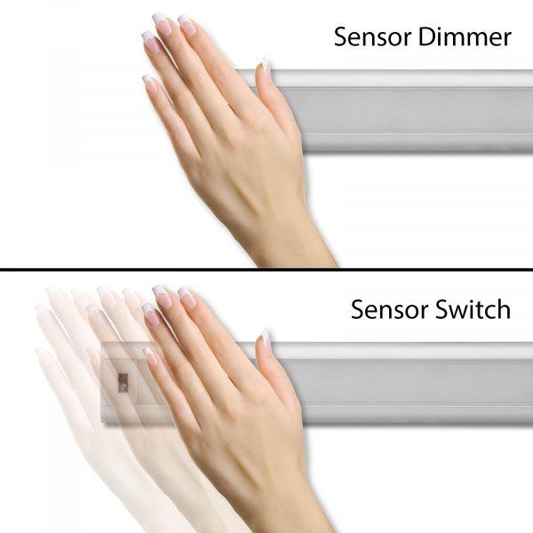 Podelementna LED svetilka z brezstičnim IR senzorjem kratkega dosega (on/off/dimmer)