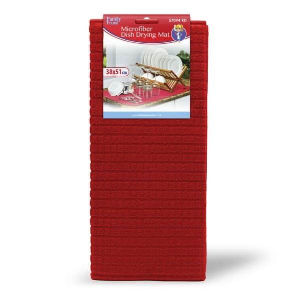 Podloga za sušenje posode iz mikrovlaken - 38 x 51 cm - rdeča