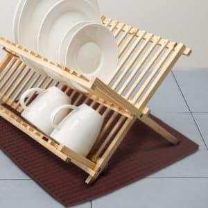 Podloga za sušenje posode iz mikrovlaken - 38 x 51 cm - rjava