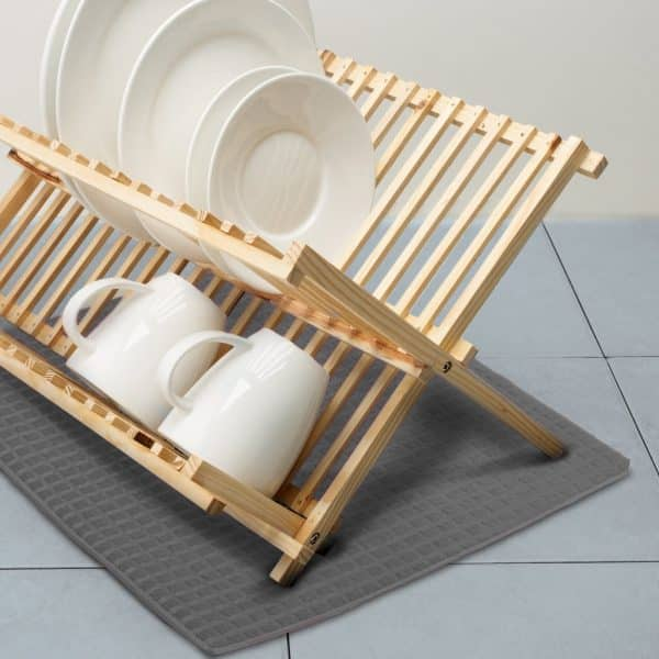 Podloga za sušenje posode iz mikrovlaken - 38 x 51 cm - siva