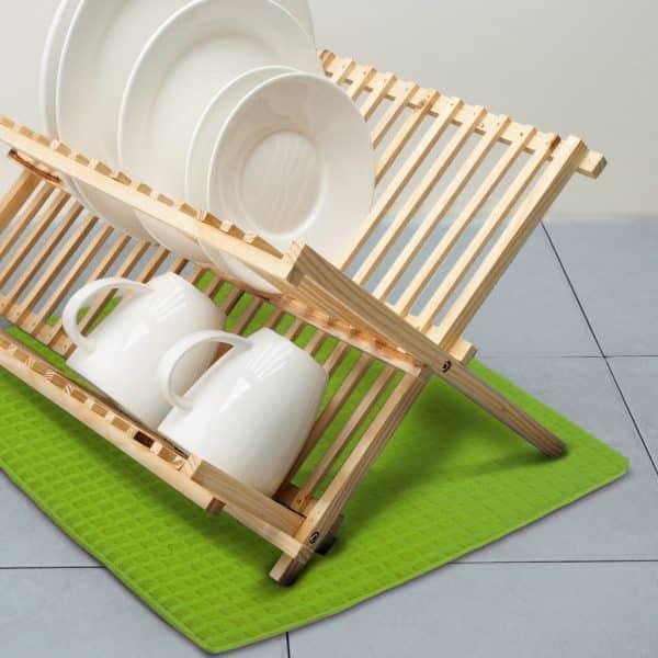 Podloga za sušenje posode iz mikrovlaken - 38 x 51 cm - zelena