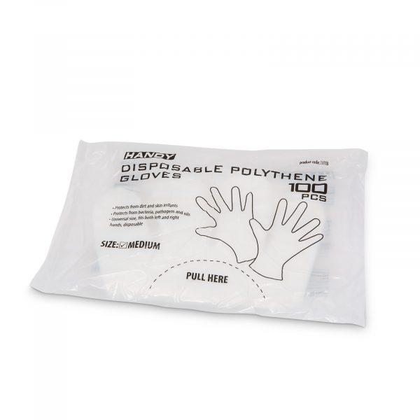 Polietilenske rokavice za enkratno uporabo - 100 kosov / pakiranje