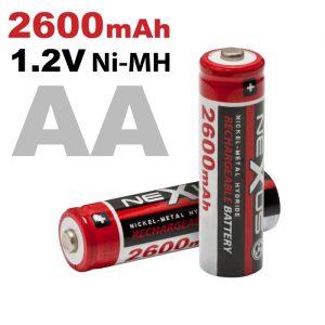 Polnilna baterija - AA • HR06 - Ni-MH • 1,2 V • 2600 mAh - 2 kos / blister