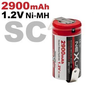 Polnilna baterija - za spajkanje • SC • HR14 - Ni-MH • 1,2 V • 2900 mAh