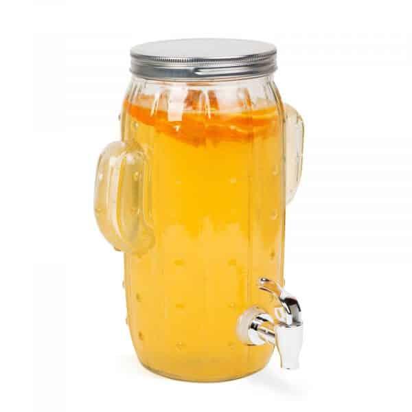 """Posoda za pijačo s pipo, steklo """"kaktus"""" - 3,6 l"""