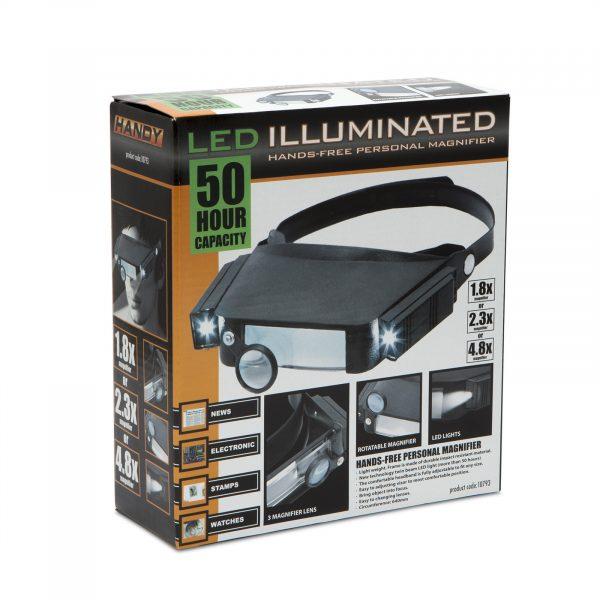 Povečevalno steklo za na glavo z LED lučko
