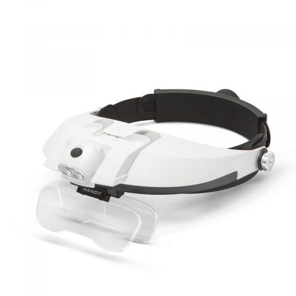 Povečevalno steklo za na glavo z LED lučko in dvojno lečo