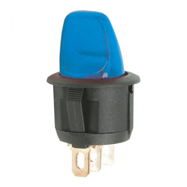 Preklopno stikalo - 1 krog - 6 A - 250 V - OFF - ON - modra luč