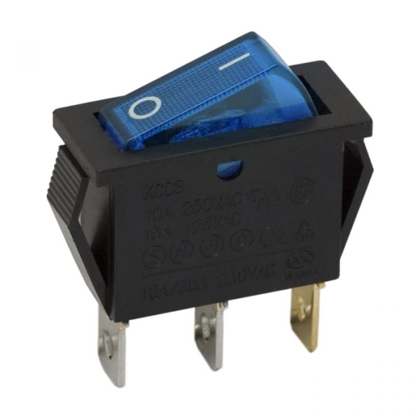 Preklopno stikalo - 1 vezje - 16 A - 250 V - OFF - ON - modra luč