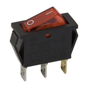 Preklopno stikalo - 1 vezje - 16 A - 250 V - OFF - ON - rdeča luč