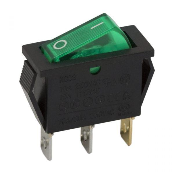 Preklopno stikalo - 1 vezje - 16 A - 250 V - OFF - ON - zelena luč