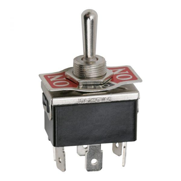 Preklopno stikalo - 2 vezja - 10 A - 250 V - ON - OFF - ON