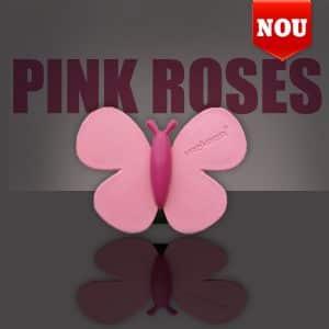 Premium osvežilec za avto metulj - pink vrtnice