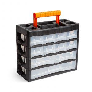 Prenosni organizator za shranjevanje drobnega materiala - 315 x 270 x 145 mm