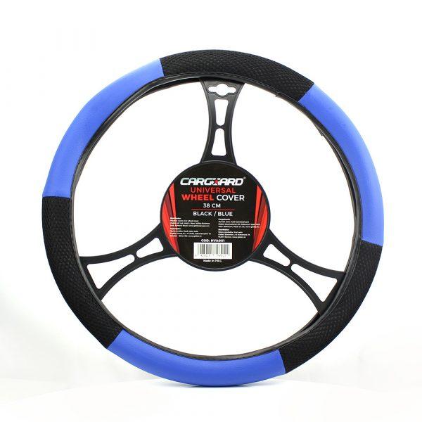 Prevleka za volan - 38 cm - HVA003 - modra / črna