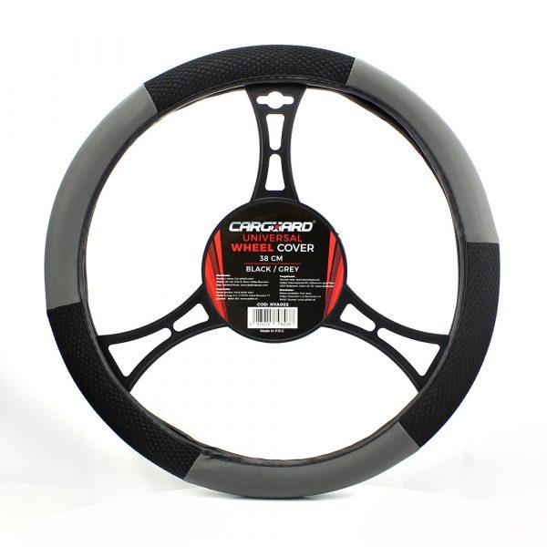 Prevleka za volan - 38 cm - HVA003 - siva / črna