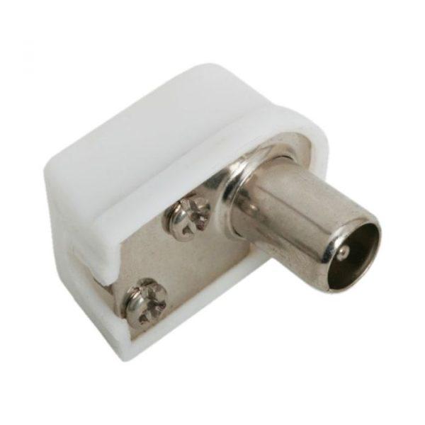 Priključek za TV coax - 90 ° - kratkega tipa