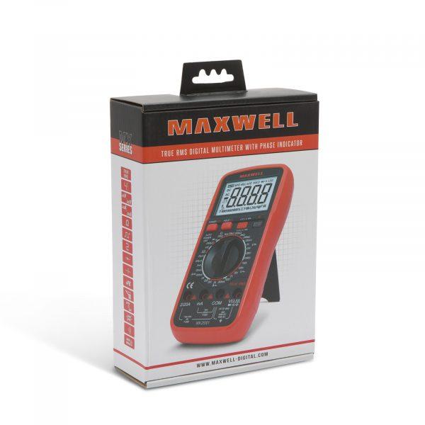 Profesionalni digitalni multimeter Maxwell z osvetlitvijo zaslona