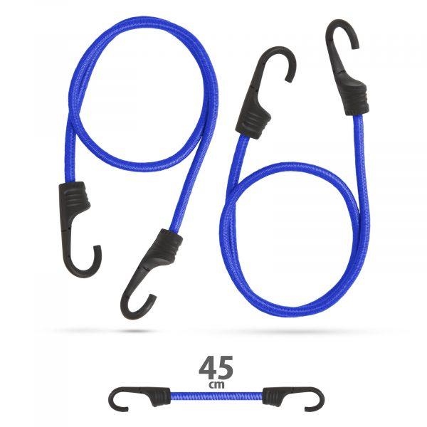 Profesionalni set bungee vrvic - modra - 45 cm x 8 mm, 2 kos / paket