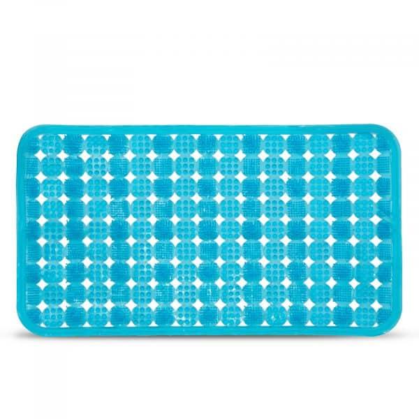 Protizdrsna podloga za kopalno kad - 68 x 37 cm - modra