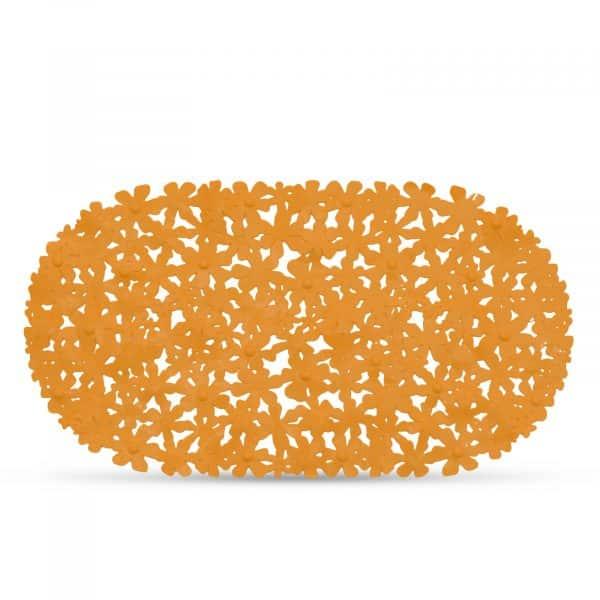 Protizdrsna podloga za kopalno kad - 68 x 37 cm - oranžna