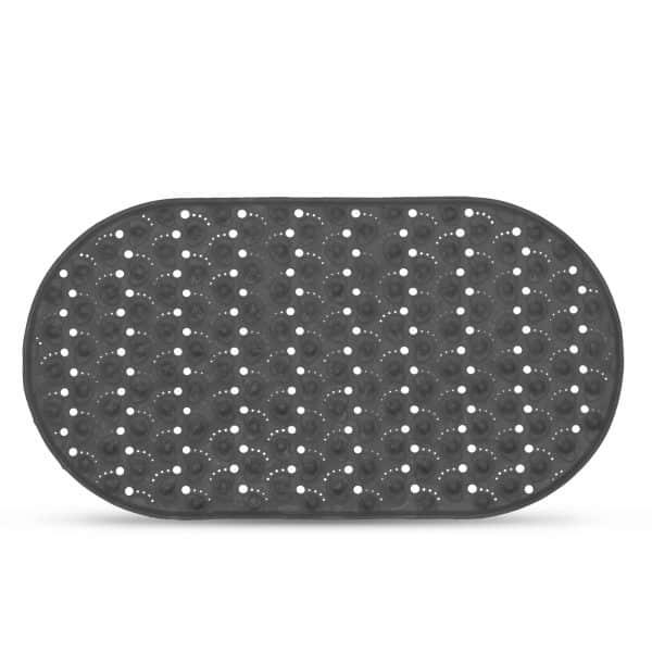 Protizdrsna podloga za kopalno kad - 68 x 37cm - siva