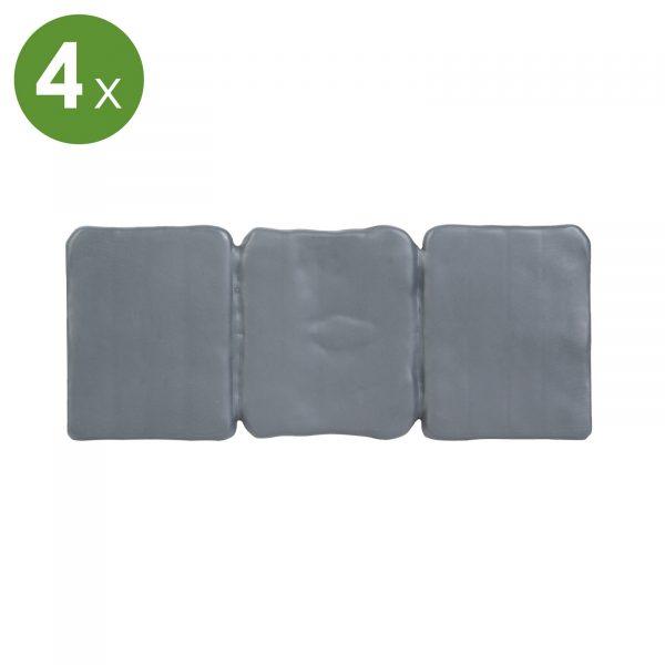 PVC obroba trate - 4 kos / paket - 24,5 x 10 cm