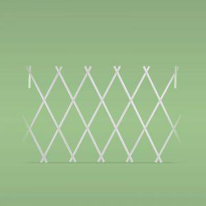 PVC ograja za svetlične grede - izvlečna - 150 x 50 cm - bela