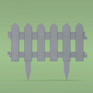 PVC ograja za vrtove ali cvetlične grede - 40.5 x 29.5 cm - siva