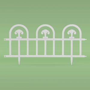 PVC ograja za vrtove ali cvetlične grede - 60 x 30 cm - bela