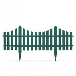 PVC ograja za vrtove ali cvetlične grede - 60x 23 cm - zelena
