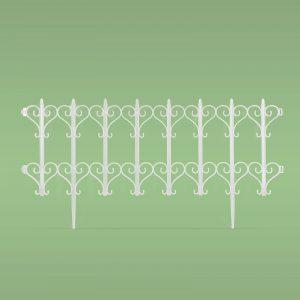 PVC ograja za vrtove ali cvetlične grede - 61 x 30 cm - bela