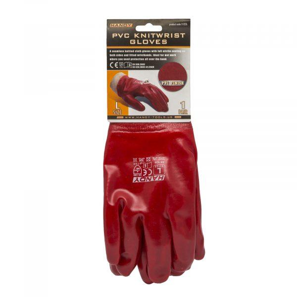 """PVC rokavice iz pletenine v velikosti """"L"""""""